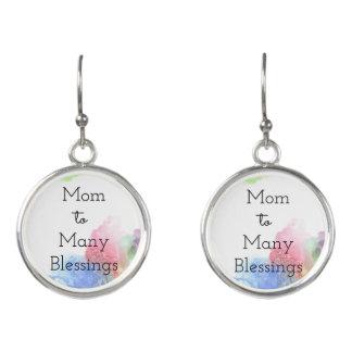 Mamma till många välsignelser örhängen