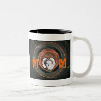 Mamma tillverkare av minnen Två-Tonad mugg