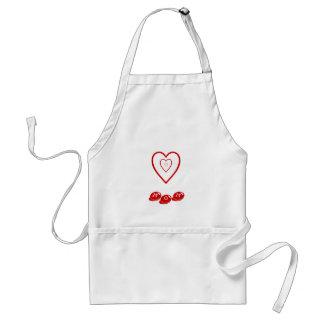 Mamma w/hearts, förkläde