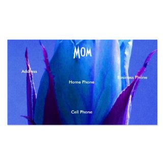 Mammablåttron profilerar kortet set av standard visitkort