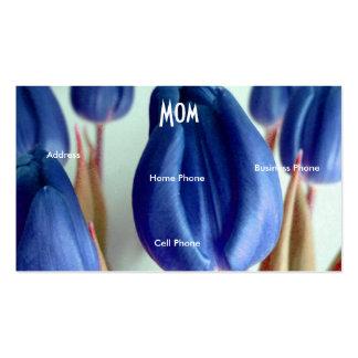 Mammablåtttulpan Set Av Standard Visitkort
