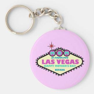 MAMMAN ÄR den SAGOLIKA Las Vegas lyckliga mors dag Rund Nyckelring