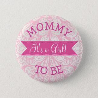 Mamman som är den rosa baby shower, knäppas standard knapp rund 5.7 cm