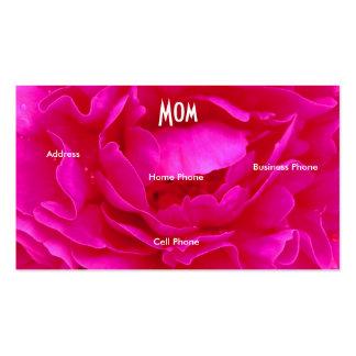 Mammarosa ros profilerar kortet set av standard visitkort
