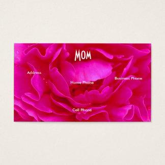 Mammarosa ros profilerar kortet visitkort