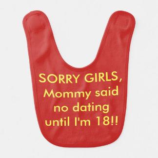 Mammor för komedi för humor för babyhaklapp sade hakklapp