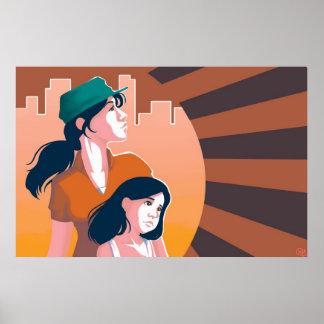 Mammor och dotteraffisch poster
