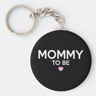 Mammor som är gullig utskrivaven T-tröja för ny Rund Nyckelring