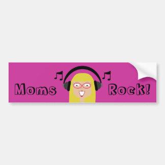 Mammorsten! Mamma & hörlurar för gullig tecknad Bildekal