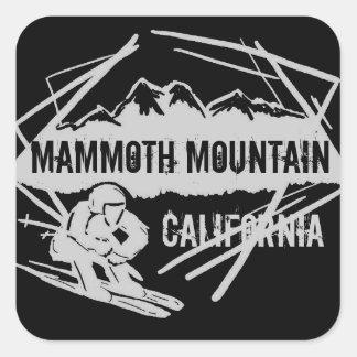 Mammoth Mountain Kalifornien skidar Fyrkantigt Klistermärke