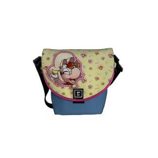 Mamoo mini- Budbärareblått & gult Messenger Bag