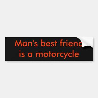 Man bästa vän är en motorcykel bildekal