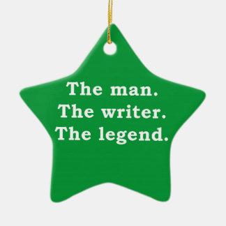 Man - författare - legend julgransprydnad keramik