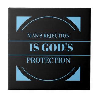 man kassering är gud skydd kakelplatta