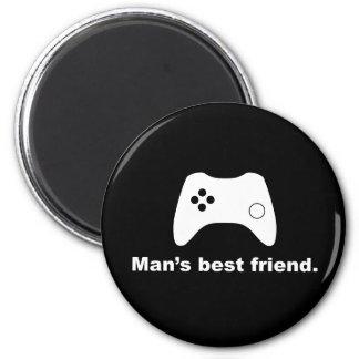 Man magnet för Gamer för bästa vän rolig Magnet Rund 5.7 Cm