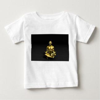 Man med hörlurar som lyssnar till att meditera för t-shirt