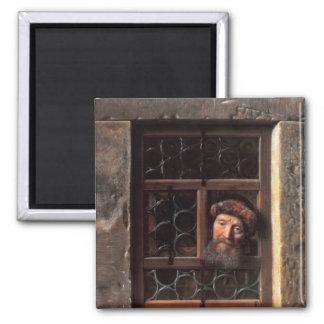 Man på ett fönster, 1653 magnet