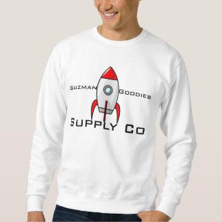 Man/tonåringar: Grundläggande tröja! (Vit) Långärmad Tröja