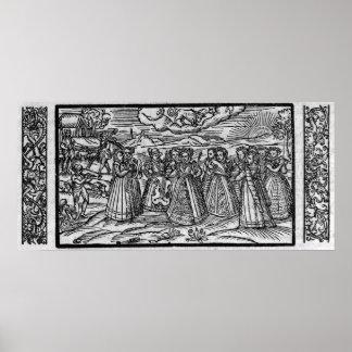 Månad av April, från 'den Shepheardes kalendern Poster