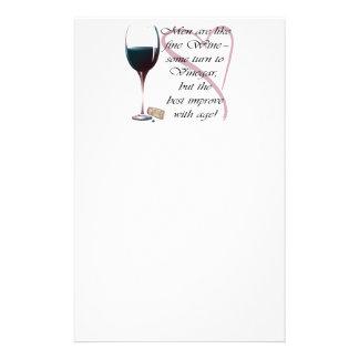 Manar är humoristiska gåvor för likt fint vin brevpapper