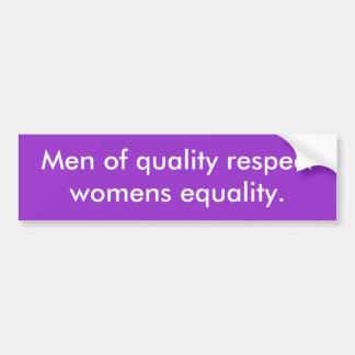 Manar av kvalitets- respektkvinna jämställdhet bildekal