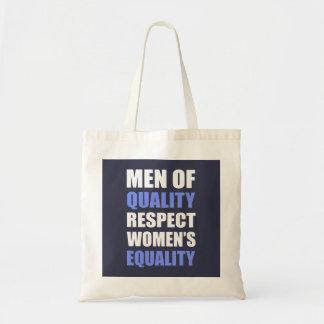 """""""Manar av kvalitets- respektkvinna jämställdhet """", Tygkasse"""
