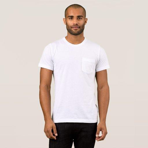 Herr Bella+Canvas Fick T-Shirt, Vit/Vit