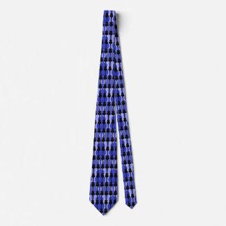 Manar blått och svartgitarrer slips