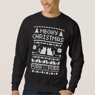 Manar den Meowy julen semestrar den fula Sweatshirt