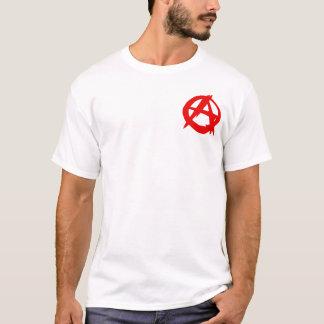 Manar för anarkist (liten logotyp) t-skjorta t-shirt