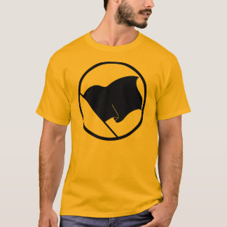 Manar för anarkistsvartflagga t-skjorta t-shirt