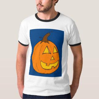 Manar för blått för jackolykta T-tröja för Ringer Tee Shirts