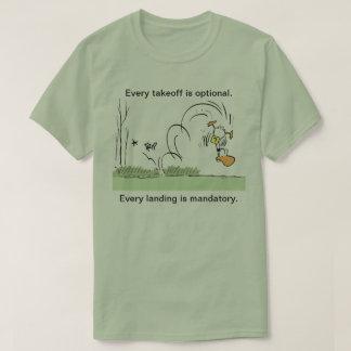 Manar för humor för Ding ankaflyg skjorta Tee