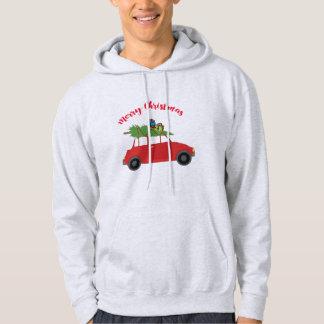 Manar för julgrangåvagod jul hoodie