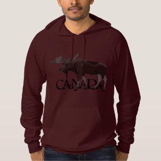 Manar för Kanada älgHoodie kanadensisk skjorta för Tröja Med Luva