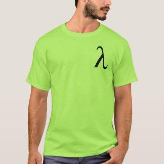 Manar för Lambda (liten logotyp) t-skjorta T-shirts