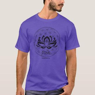 Manar för logotyp för Reiki rena kärlekevolution Tee