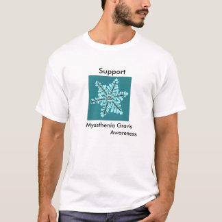 Manar för medvetenhet för MyastheniaGravis-Service T-shirt