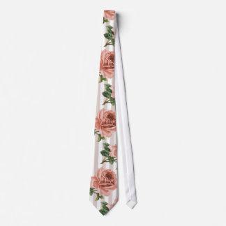 Manar för nätt rosa ros för Victorian silkeslen Slips