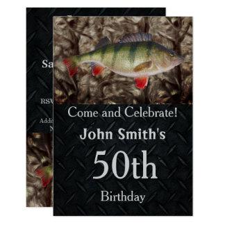 Manar för Perchfiskefödelsedagsfest inbjudningar
