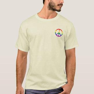 Manar för regnbågefredstecken (stoppa i fickan tee shirt