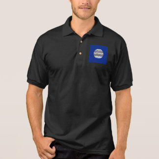 Manar för rundablått mosaisk skjorta för Polo Polo Tröja