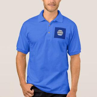 Manar för rundablått mosaisk skjorta för Polo Polotröja