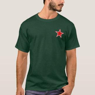 Manar för stjärna för sovjetiskt flyg röda t-shirt