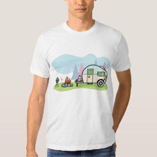 Manar för vintagestilcampare T-tröja T-shirts