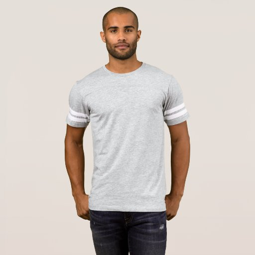 Herr Amerikansk Football T-Shirt, Melerad Grå