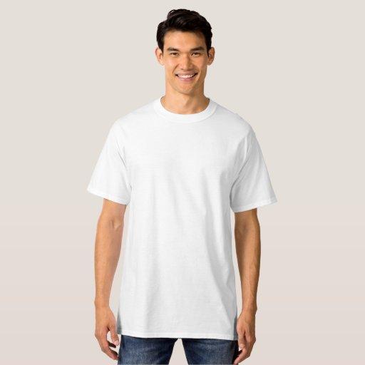 Herr, Lång Hanes T-Shirt, Vit