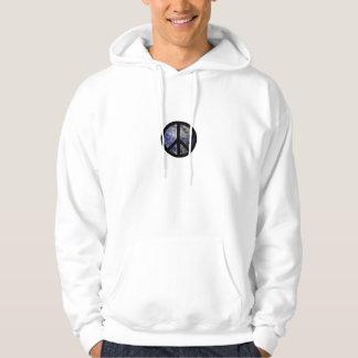 Manar Hooded tröja för fredstecken Blog4Peace