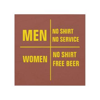 Manar ingen skjorta inga tjänste- kvinnor ingen trätavla
