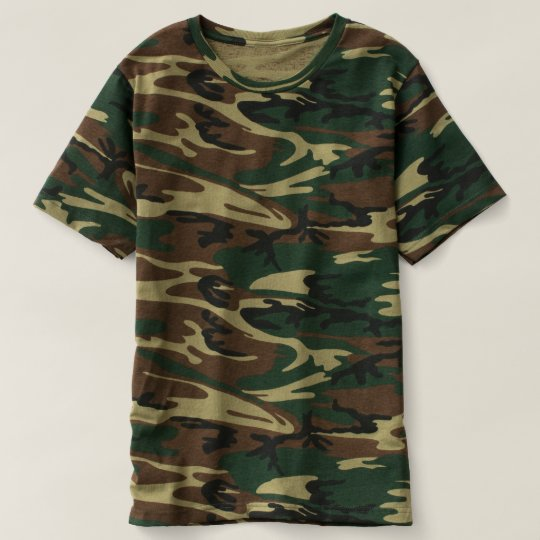 Herr Kamouflage T-Shirt, Skogsgrön